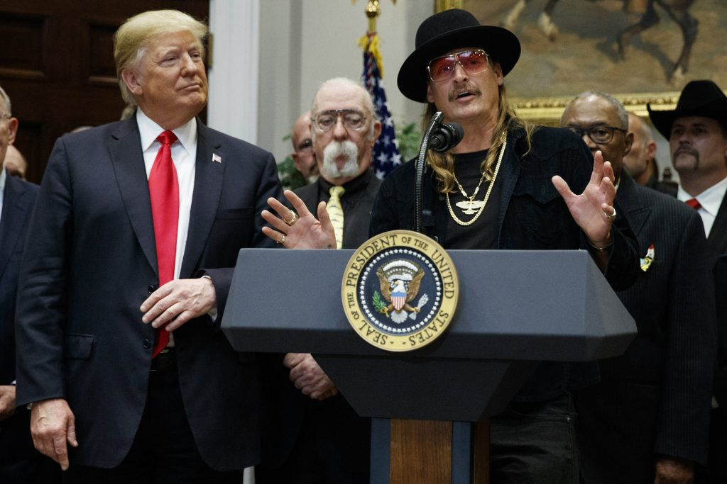 kid rock donald trump casa blanca