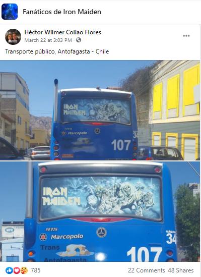 iron maiden bus