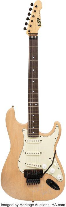 kirk hammett subasta guitarra one esp