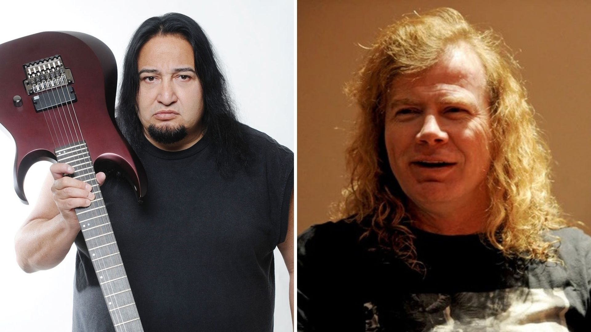 Dave Mustaine Dino Cazares sándwich