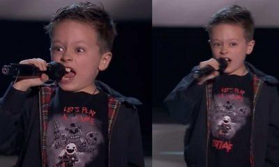 niño canta acdc