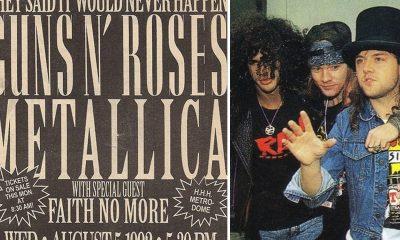 metallica gun n roses tour