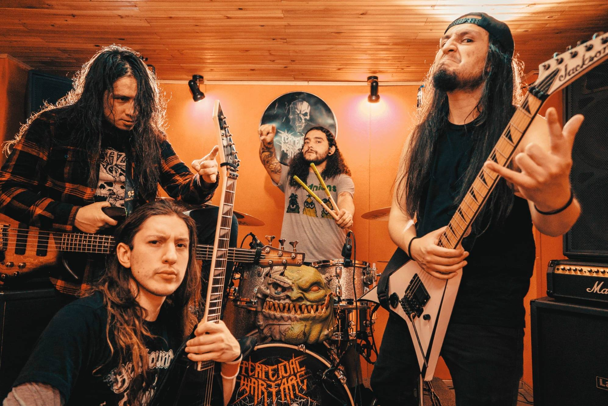 """Perpetual Warfare- banda de Thrash Metal de Colombia- estrenó el videoclip de su nuevo single titulado """"Grita o Muere"""" (Foto: difusión)."""